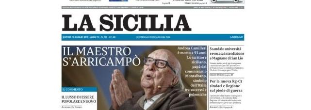 articolo quotidiano la sicilia presentazione come una folgore nel cielo